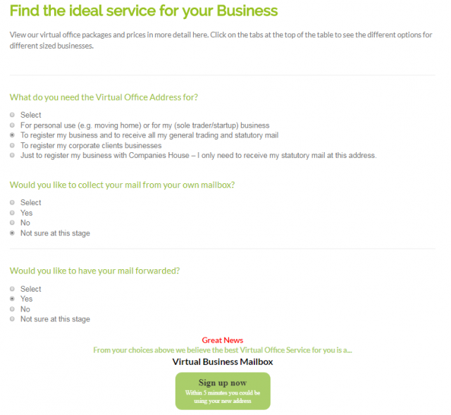 Find Out Which Virtual Office Service Package is Right for Your Business - Quick Questionnaire